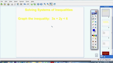 Thumbnail for entry Systems of Inequalities