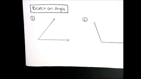 Thumbnail for entry Construction - Angle Bisector