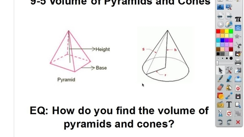 Thumbnail for entry 9-5 Volume of Pyramids and Cones