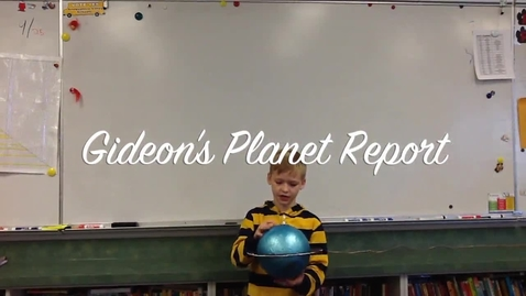 Thumbnail for entry Gideon's Planet Report