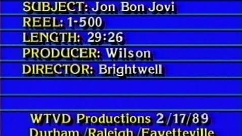 Thumbnail for entry 88-89 Jon Bon Jovi Visits Broughton - WTVD Broadcast - Feb 17 1989