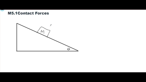 Thumbnail for entry Clip of Clip of M5.1 Forces on a Mass on a Ramp