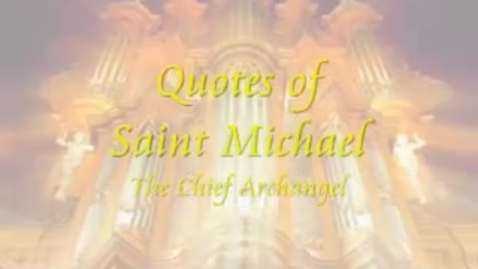 Thumbnail for entry Saint Michael, the Archangel