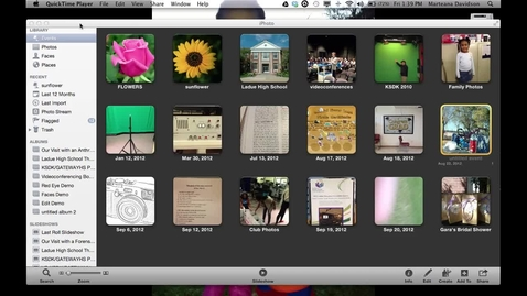 Thumbnail for entry iPhoto Lesson # 3