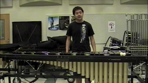 Thumbnail for entry Michael Zhu's Mallet Audition Video