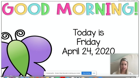 Thumbnail for entry Friday April 24 Morning Meeting