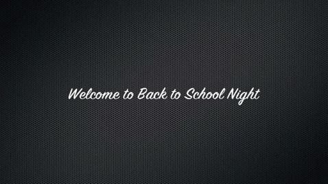 Thumbnail for entry Back to School Night - Rehrig HR