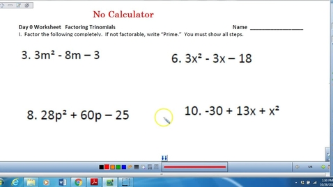 Thumbnail for entry Factoring and combining fractions