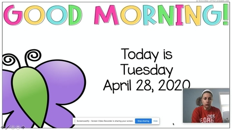 Thumbnail for entry Morning Meeting April 28
