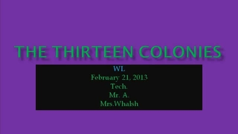 Thumbnail for entry WL Walsh 13colonies