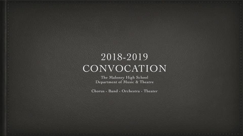 Thumbnail for entry Convocation 2018