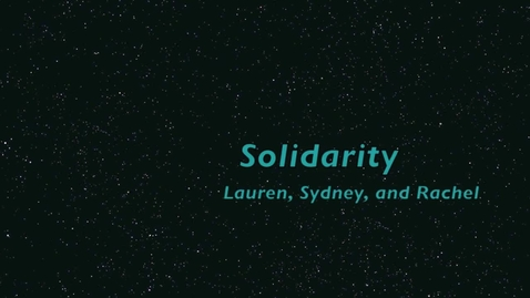 Thumbnail for entry Solidarity Rachel, Lauren, and Sydney