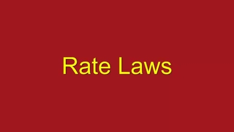 Thumbnail for entry The Rate Laws