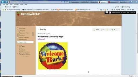 Thumbnail for entry Create Links in a wiki