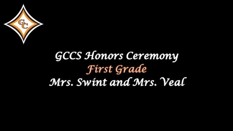 Thumbnail for entry First Grade Honors Day Awards
