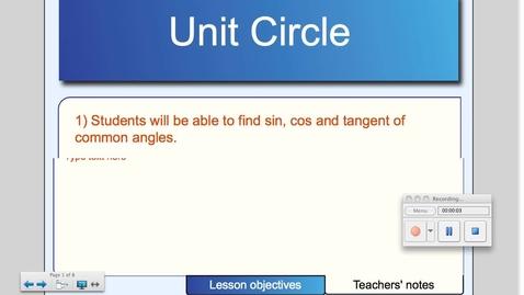 Thumbnail for entry Unit Circle