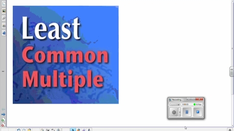 Thumbnail for entry Least Common Multiple