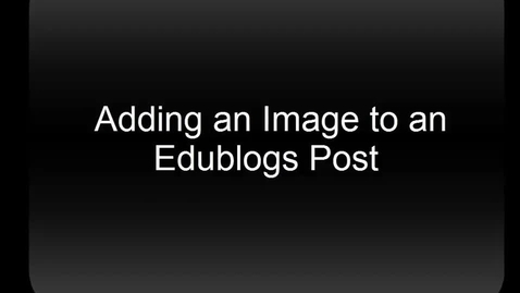 Thumbnail for entry Embedding Images in Edublogs from Flickr CC