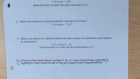 Thumbnail for entry Math 8 Final Exam Practice Test Part 2 Answers and Explanations