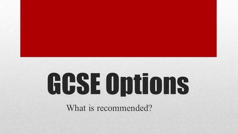 Thumbnail for entry Year 10 options choices