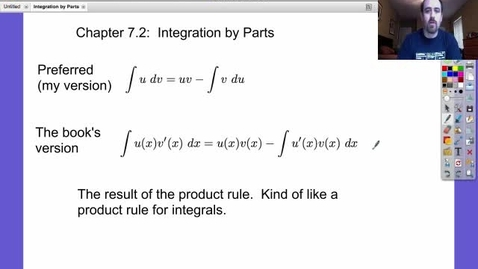 Thumbnail for entry Integration by Parts