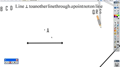 Thumbnail for entry Constructing line through a point not on a line