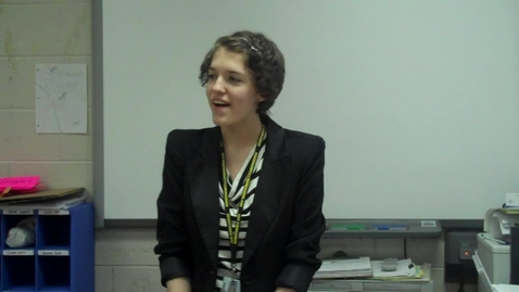 Thumbnail for entry Spring 2012 -- Using a Prop to Teach a Lesson -- Hayley Gerlach -- Mr. Gilbert's class