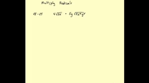 Thumbnail for entry Multiplying radicals
