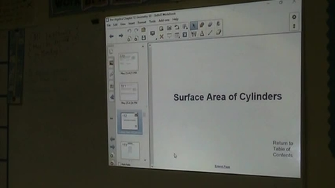 Thumbnail for entry PA Lesson 12-6 Surface Area of Cylinders