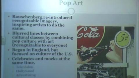 Thumbnail for entry Pop Art Through Contemporary Art