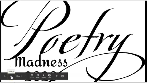 Thumbnail for entry Poetry Madness 2020