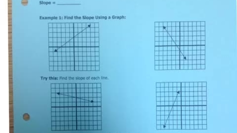 Thumbnail for entry AE Notes on Slope of a Line