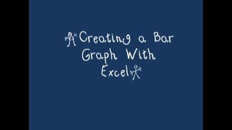 Thumbnail for entry Creating a Bar Graph wth excel (qualitative Data)