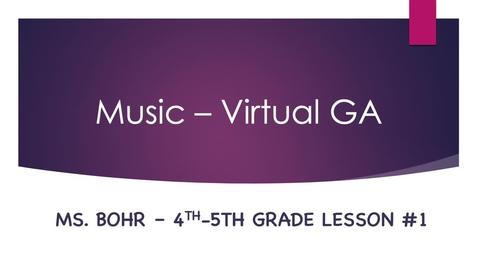 Thumbnail for entry Virtual lesson #1 - movie version