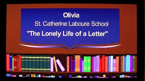 Thumbnail for entry The Lonely Life of a Letter The 2013 7GP 7th Grade Poetry Contest Winner