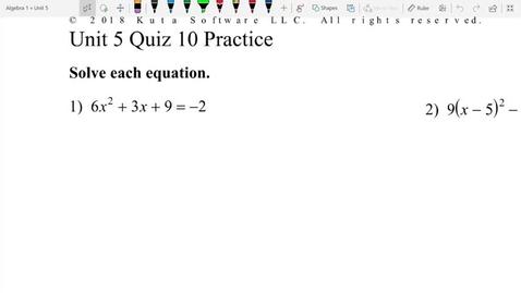 Thumbnail for entry Unit 5 Quiz 10 Practice 1,2,,3
