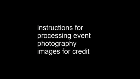 Thumbnail for entry Processing Event Photography in Lightroom