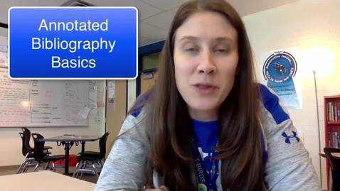 Thumbnail for entry Annotated Bibliography Basics