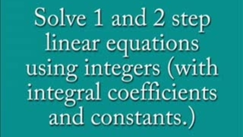 Thumbnail for entry Linear Equations