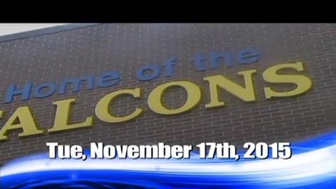 Thumbnail for entry The Falcon Daily  Tuesday, November 17, 2015