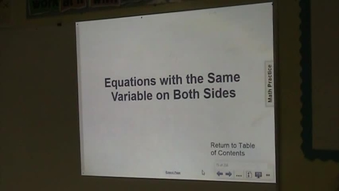 Thumbnail for entry PA Lesson 5-2 Variables on Both Sides Part 1
