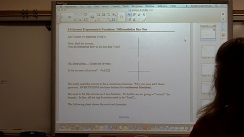 Thumbnail for entry Calculus Section 5-6 day one
