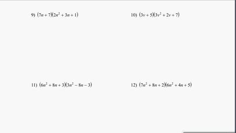 Thumbnail for entry Algebra1B Test 1 Review #9-12