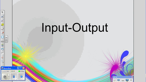 Thumbnail for entry Input-Output