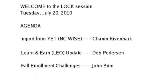 Thumbnail for entry LOCK Session:  July 20, 2010