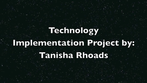 Thumbnail for entry Technology Implementation Project CUED 7801