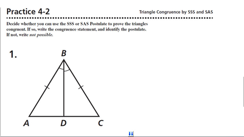 Thumbnail for entry Geo Practice 4-2 Triangle Congruence