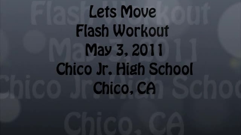 Thumbnail for entry Let's Move Flash Workout