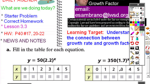 Thumbnail for entry CMP8 - GGG - Lesson 3-3 Growth Rates