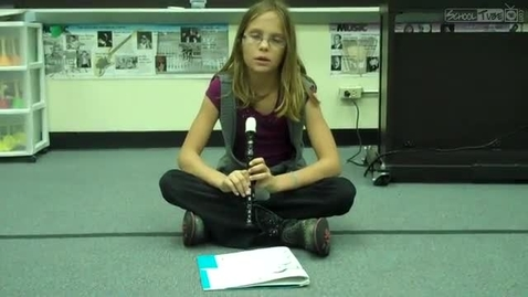 """Thumbnail for entry Lindy playing """"High Dive"""" on the recorder"""